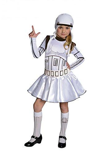 Krieg Die Mädchen Halloween Kostüm (Star Wars Storm Trooper Kostüm für Mädchen,)
