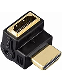 Hama 75122232 Adaptateur coudé HDMI haute vitesse mâle/femelle Noir