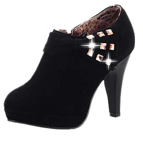 feiXIANG Damen High Heels Stiefeletten Bowknot große größen Formal Business Schuhe Hochzeit Partei Schuhe ()