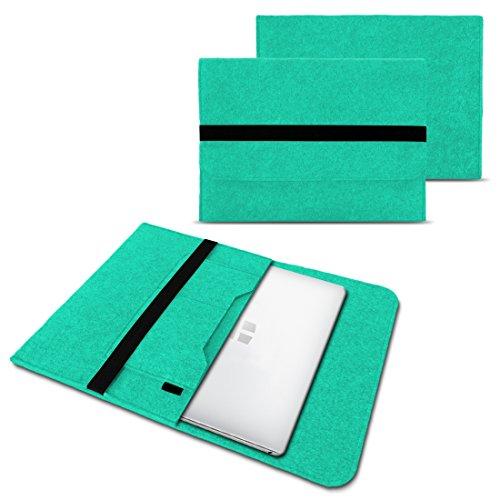 Trekstor Primebook C13 Notebook Sleeve Hülle Laptoptasche Schutzhülle 13,3 Zoll Laptop Filz Case, Farben:Mint