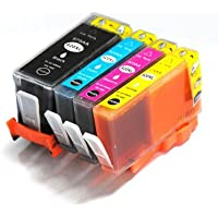 1 set (4 inks) HP 920XL Cyan Compatible Printer Ink Cartridge for Officejet 6500 6500A Plus All-in-One e-All-in-One Wireless 7500A Wide Format 6000 6000Wide 6500Wide 7000 7000AIO 7000Wide 6500SE 6000AIO 6500AIO 6000SE 7000SE, 1x - CD975AE black, CD972AE cyan, CD973AE magenta, CD974AE yellow