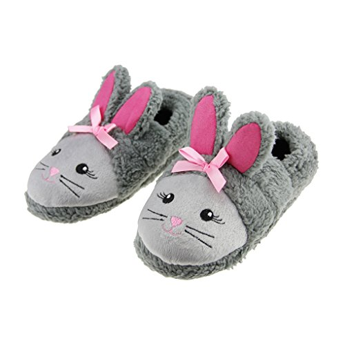 Pantuflas-Nio-Casa-Zapatos-bien-fros-pantufla-de-interior-Mignon-Pantuflas-algodn-diseo-de-conejo-Pantuflas-suave-blanda-para-nia-nio-talla-12-13