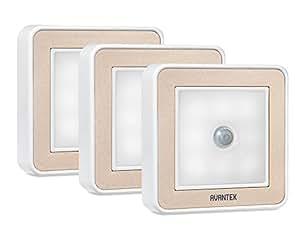 AVANTEK Wireless Luce Notturna Lampade con Motivi Movimento con Doppi Sensori LED Luci per Muro Ripostiglio Armadio Parete (3 Paia) [Classe di Efficienza Energetica A+]