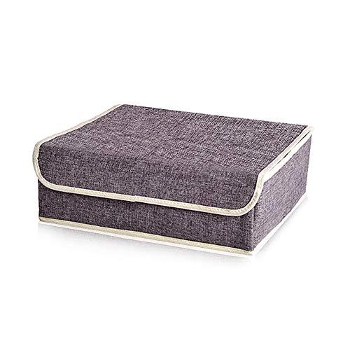 YFZYT Faltbare Stoff Unterwäsche Aufbewahrungsbox, Kleider Aufbewahrungsbeutel Korbbehälter Organizer für Quilt Bekleidung Kleidungsstücke BH Socken Krawatten Schals - 13 Fächern, Grau#3