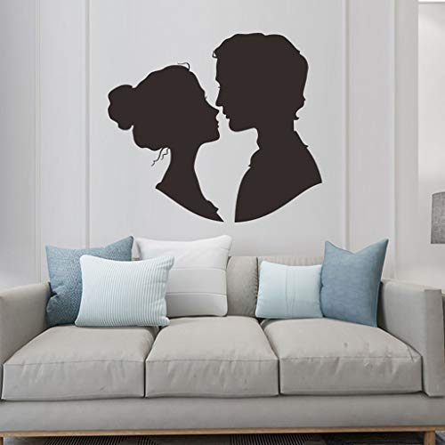 Igemy Removable Vinyl Home Decal Valentine's Art Mural Living Room Decor Wall Sticker (Schwarz)
