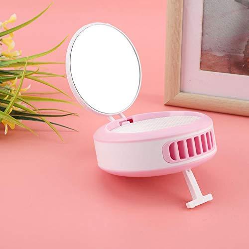 zyfun Mini Ventilator Tischventilator Zuhause Büro Creative Desk Top Mirror Fan USB Charging Summer Cool Portable with Mobile Phone Holder Function Desktop Fan