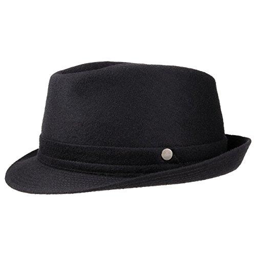 Aneb Virgin Wool Trilby Lierys cappello invernale cappello da uomo 60 cm - nero