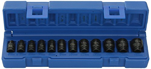 Grey Pneumatic GP 12pc Impact Socket Set 1/4 Dr magnetica