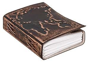 "Agenda Gusti Leder ""Ronda"" DIN B6 album fotografico diario ricettario in vera pelle marrone scuro 2P47-24-23"