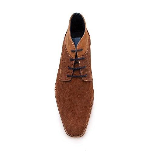 Zerimar Herren Lederschuh Komfortabler Schuh mit Flexibler Gummisohle Leder Casual Schuh für Den Mann Hochwertige Leder Schuhe Elegant 100% Leder Farbe Cognac26