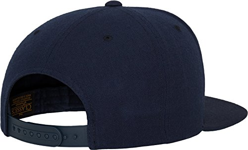 Flexfit Classic Snapback Cap, Mütze Unisex Kappe für Damen und Herren, One Size, plus extra Kindergröße navy