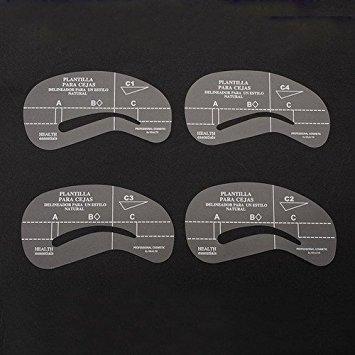 4x Damen Augenbrauen Schablonen Eyebrow Stencil Form