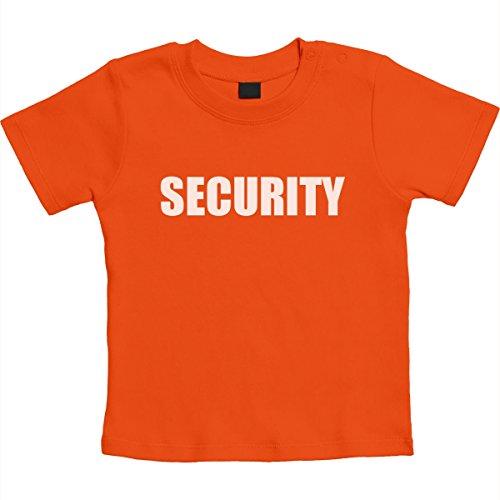 Security Motiv Für Die Wachsamen Babies Unisex Baby T-Shirt Gr. 66-93 6-12 Monate / 76 Orange