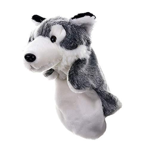 Ouken Kinder Handpuppe Cartoon Wolf Puppet Spielzeug für Storytelling Fluffy Soothing Spielzeug-Plüsch-Fingerpuppen
