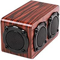 HHL Madera Inalámbrica Bluetooth Estéreo, Subwoofer Cool