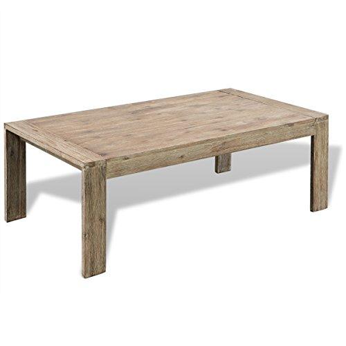 vidaXL Table Basse de Salon Bois d'Acacia Massif Brossé 110 x 60 x 40 cm