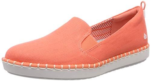 Clarks Damen Step Glow Slip Geschlossene Ballerinas, Orange (Coral), 39 EU (Frauen Für Schuhe Clarks Slip)