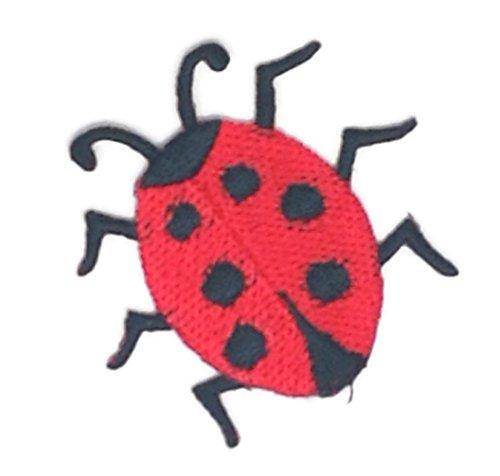 Kleine Größe Lady Bug Cartoon bestickt Nähen Eisen auf bestickte Applikation Craft handgefertigt Baby Kid Girl Frauen Tücher DIY Kostüm Zubehör