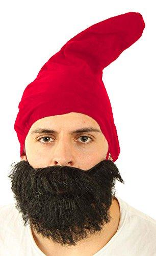 Marco Porta Zwergenmütze Erwachsene Gnom Wichtel Zwergenkostüm Zubehör Kopfbedeckung (Rot)