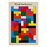 Uegos De Construcción Grande Juego de bloques de rompecabezas de madera Tetris 40 piezas rompecabezas rompecabezas juguetes de inteligencia educación regalo bloques de construcción juego colorido Romp