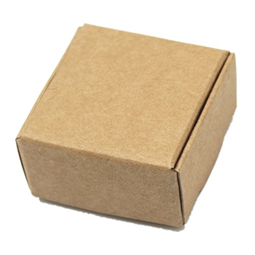 "30pcs 6.5 x 6.5 x 3cm (2.6""x2.6""x1.2"") Natural Kraft Paper Gift Box for Baby Shower Wedding Birthday Christmas Party Gift Packaging Retail Packing Package Box DIY Handmade Soap Craft Paper Boxes Brown"
