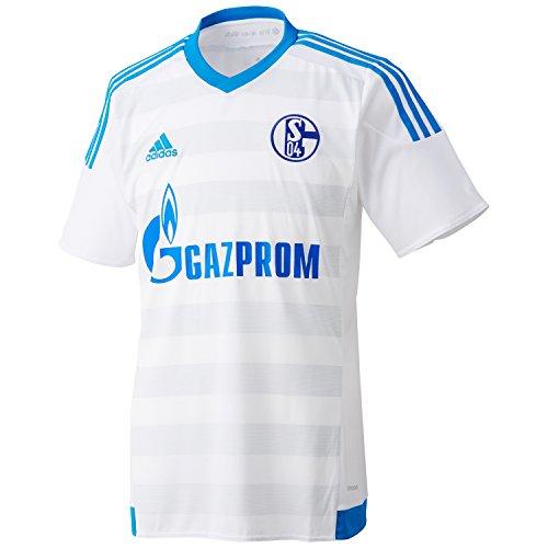 Grey Away Trikot (adidas Herren Trikot FC Schalke 04 Away White/Bold Aqua/Clear Grey, XXXL)