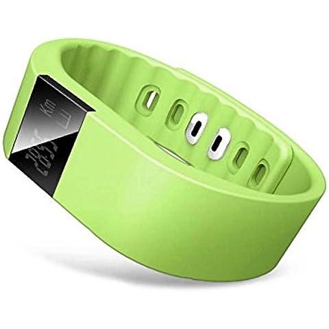 Tongshi Bluetooth elegante reloj pulsera deporte sano podómetro del monitor del sueño (Verde)