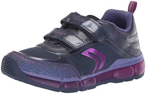 Geox Mädchen J Android Girl A Sneaker, Blau (Navy/Purple C4269), 31 EU