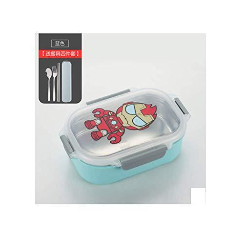 Lindo fiambrera infantil de dibujos animados 304 de acero inoxidable envase de comida japonesa fiambrera fiambrera envase de comida a prueba de fugas