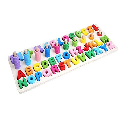BALALALA Alphabet-Blöcke Lernspielzeug aus Holz für Großbuchstaben und Zahlen - für das frühe Lernen im Kindergarten Lernspiele Spielzeug für Kleinkinder und Vorschulkinder