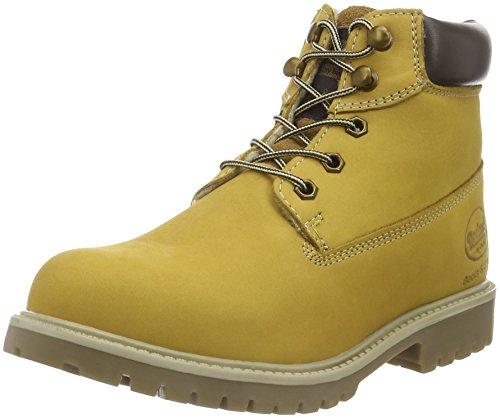 Dockers by Gerli Unisex-Kinder 35FN799-300910 Combat Boots, Gelb (Golden Tan 910), 34 (Boots Combat Kinder)
