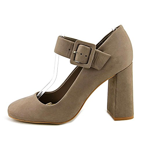Vince Camuto Vanira Cuir Mary Jane Talons Stone Taupe