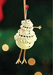 Patience Brewster Mini Ornament - Mrs. Snowman By Patience Brewster