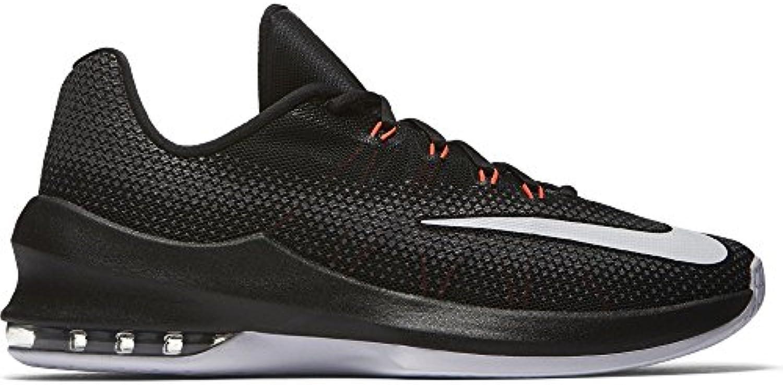 Men's Nike Air Max Infuriate Low Basketball Shoe Black/White/Dark Grey/Total Crimson Size 9.5 M US