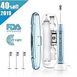 Elektrische Zahnbürste ABOX Schallzahnbürste mit 4 Reinigungs-Modi