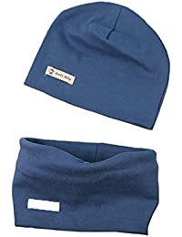 Boomly Autunno e Inverno Caldo Cute Tinta unita Morbido Cappello in Cotone  Berretto e Sciarpa Scaldacollo ed32cb479229