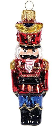 'IMP' Christbaumschmuck Figuren Glas (Nussknacker 7.5cm) Weihnachtskugeln Weihnachtsbaumschmuck Christbaumkugeln Deko Glas