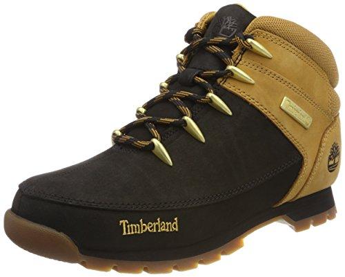 Timberland Euro Sprint Hiker, Botas Chukka para Hombre, Negro (Black/Wheat 015), 43.5 EU