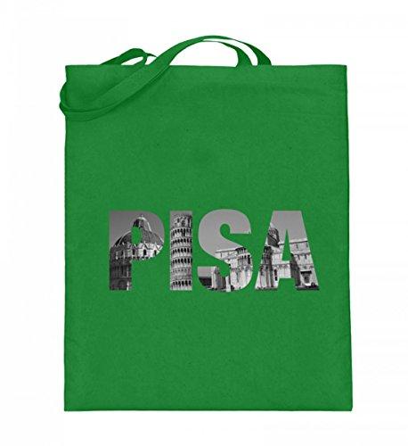 Hochwertiger Jutebeutel (mit langen Henkeln) - Pisa Light Green
