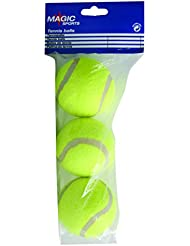 Magic Sport Kid de Sport Fun Balles de tennis (Lot de 3) – Jaune