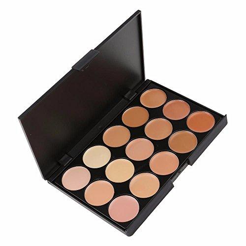 HuntGold maquillage correcteur palette camouflage poudre pour le visage crème 15 couleurs claire kit