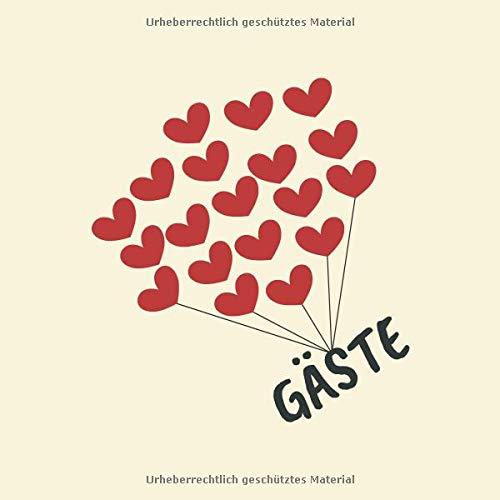 Gäste: Gästebuch Für Hochzeit, Geburtstag, Baby Shower etc.  Mit 100 Leeren Weißen Seiten por Maria Sophia Langer