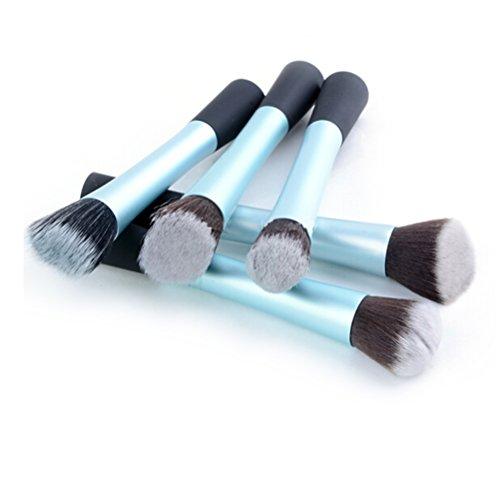 PIXNOR Brosse à Maquillage Cosmétique Premium Ensemble Kit 5pcs (Bleu)