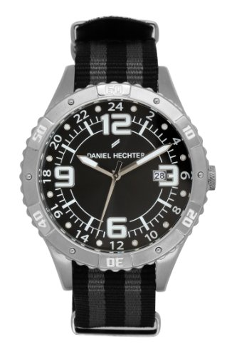 Daniel Hechter - DHH 002/AA - men's watch - analogue quartz - black dial - black nylon strap
