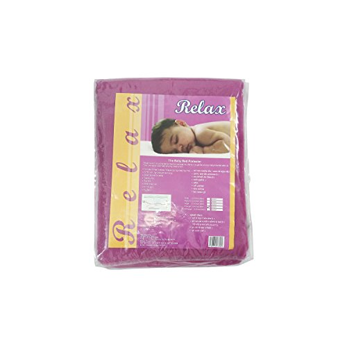 Relax Baby Bed Protector Mattress Sheet Small (50 x 70 cm) (Plum)  available at amazon for Rs.135