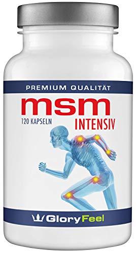 MSM Kapseln Intensiv 1.600-1600mg Organischer Schwefel Pulver pro Tagesdosis - 120 Vegane Kapsel - Laborgeprüft und ohne unerwünschte Zusätze hergestellt in Deutschland -