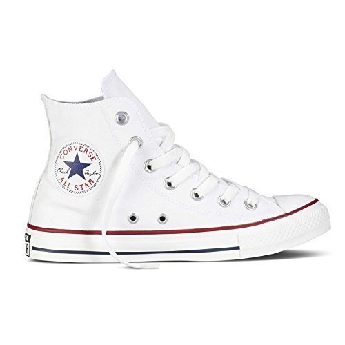 High-tops Weiß Converse Mädchen (Converse Unisex-Kinder CTAS-Hi-Optical White-Youth Hohe Sneaker, Weiß (Optical White 102), 27 EU)