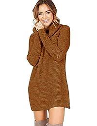 265058a289 BEBIG Women Sweater Turtleneck Long Sleeve Knitted Dress Pullover Sweater