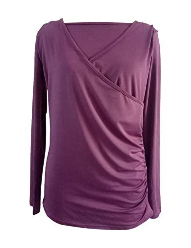 Zhhlaixing Damen Umstandsmode Nursing Stillen Tops Schwanger T-Shirt - Casual Loose Schwangerschafts T-Shirt Maternity Shirt Lange Ärmel Pullover