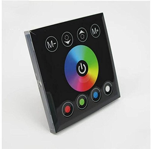 Grandey fai da te Casa Illuminazione RGBW LED Touch Panel Controller per striscia LED Neon, dc12V luci RGBW RGBWW LED Controller 12V/24V RGB Controller Touch RGBW Striscia LED TV a controller Black